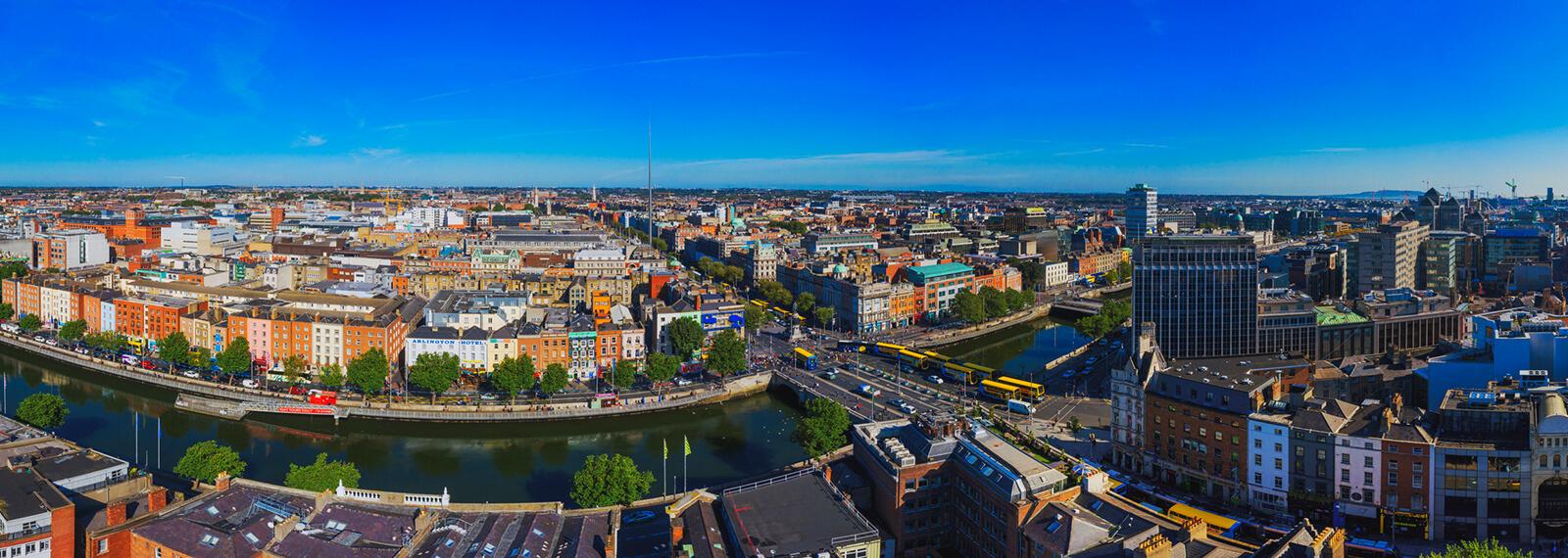 Aerial photo of Dublin City